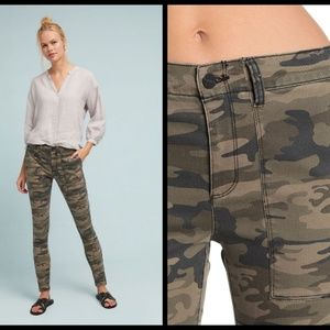 ANTHROPOLOGY Fast Track Camo Skinny Cargo Pants